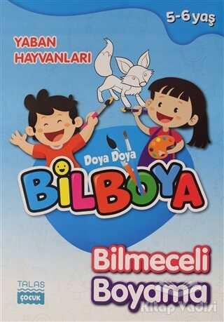 Talas Yayınları - Yaban Hayvanları - Doya Doya Bil Boya Bilmeceli Boyama (5-6 Yaş)