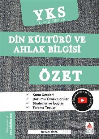 Delta Kültür Basım Yayın - TYT-AYT (YKS 1. ve 2. Oturum) Din Kültürü ve Ahlak Bilgisi Özet